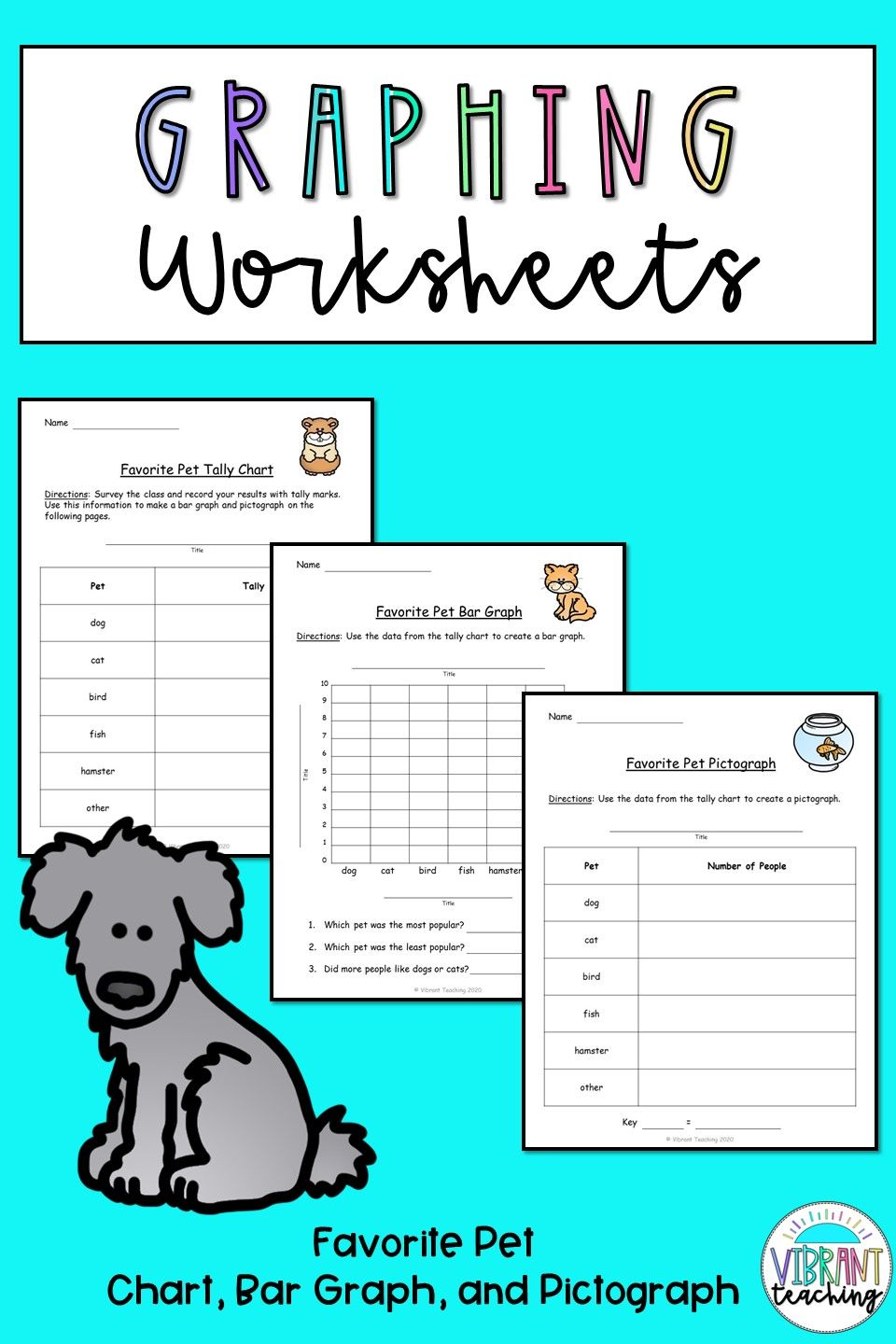 Graphing Worksheets: Favorite Pet   Graphing worksheets [ 1440 x 960 Pixel ]