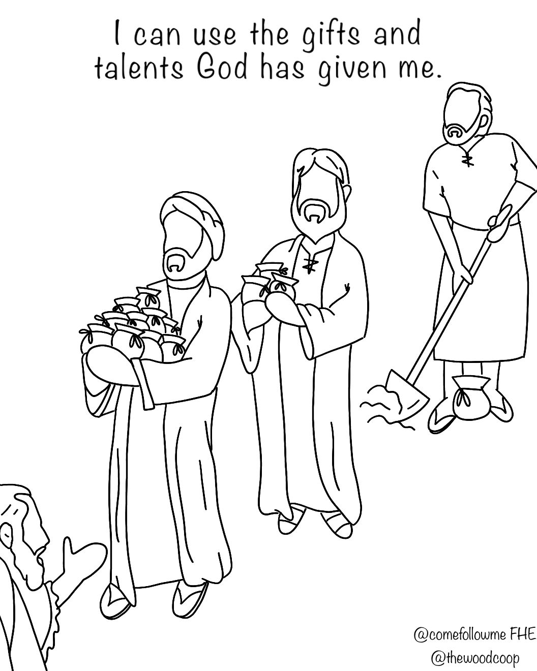 The Son Of Man Shall Come Talents Come Follow Me Fhe Parable Of The Talents Bible Lessons For Kids Christian Preschool