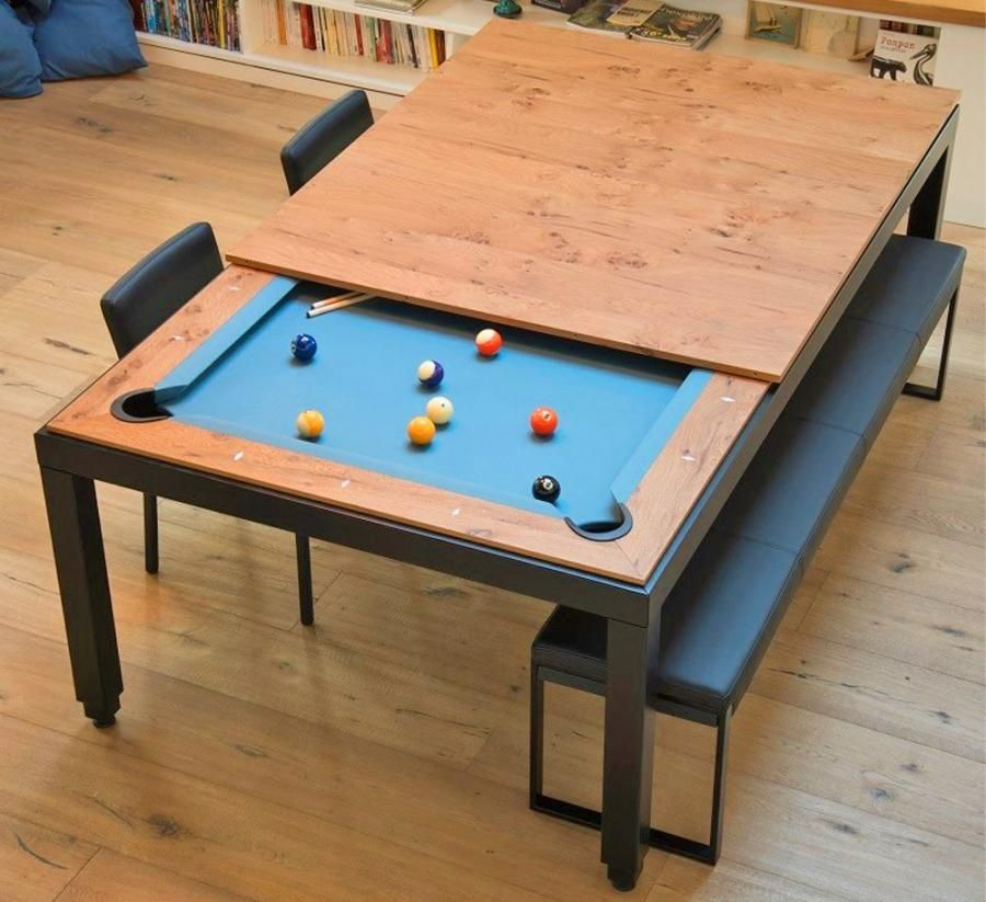 This Company Makes Elegant Dining Tables That Convert Into Pool Tables In 2020 Pool Table Dining Table Pool Table