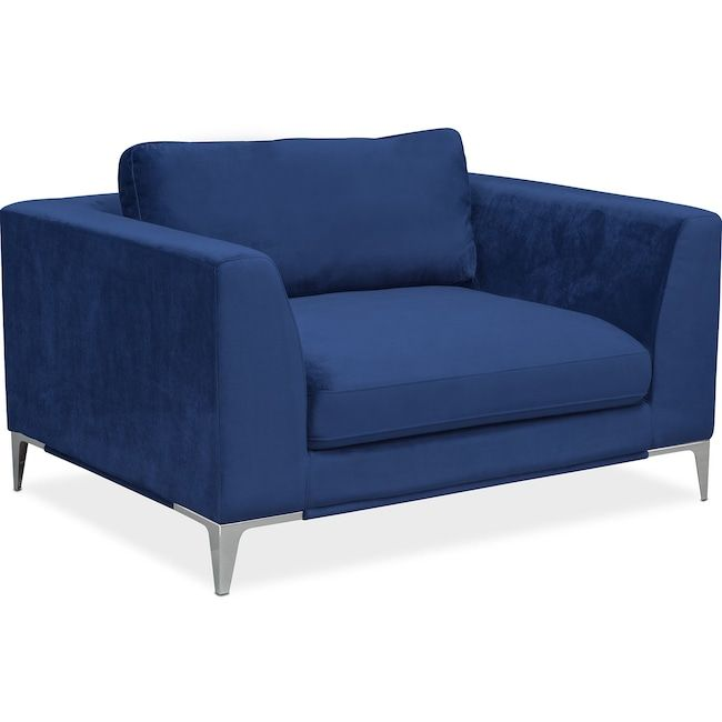 Best Aaron Cuddler Chair Indigo Value City Furniture And 400 x 300