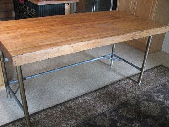 Exceptional Items Similar To Commercial Vintage Butcher Block Table On Etsy
