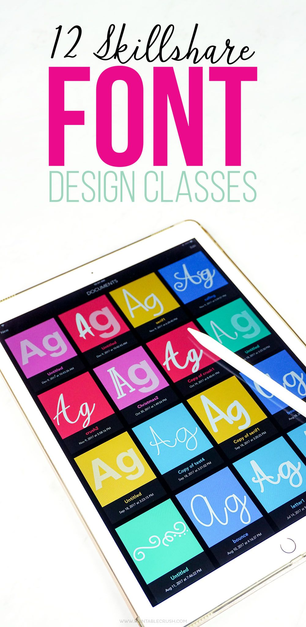 12 Skillshare Font Design Classes Design classes, Create