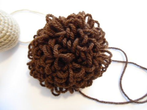 How to crochet doll's wigs by Loopstitch - YouTube