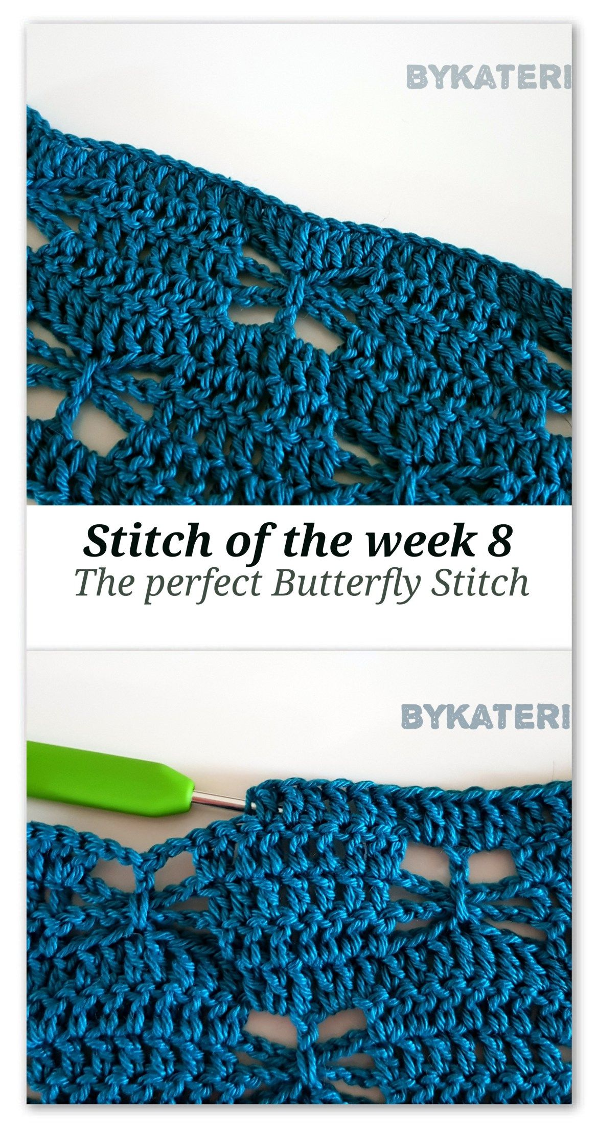 Stitch of the week 8: The perfect Butterfly stitch #crochetstitches
