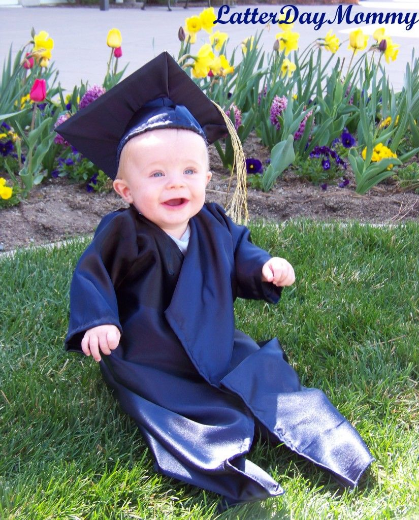 Take a photo of your baby or toddler in your college cap and gown ...