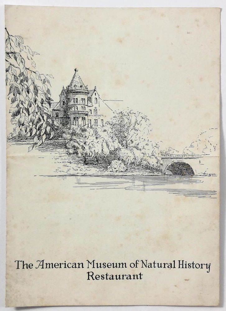 1935 Vintage Menu AMERICAN MUSEUM OF NATURAL HISTORY