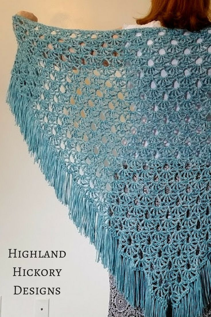 April Showers Shawl - Free Crochet Pattern | Easy patterns, April ...