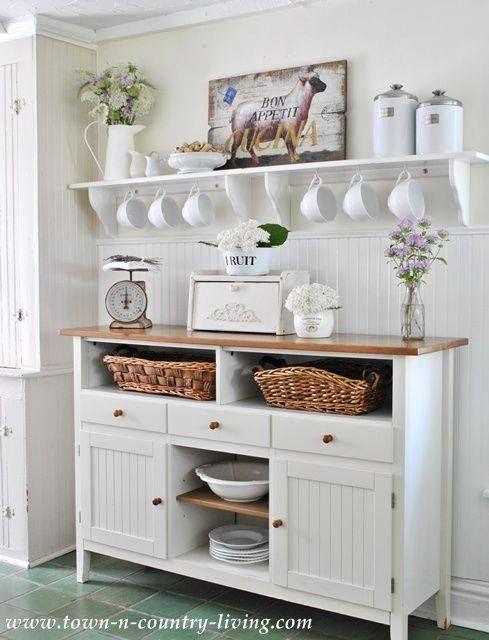 Take A Tour Of My Cottage Style Farmhouse Home Kitchen Sideboard