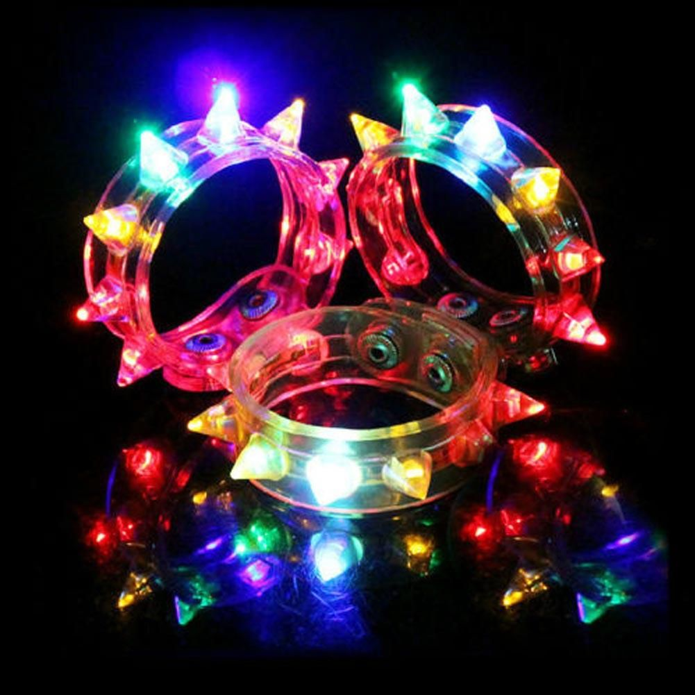 Funny Flash Bracelet Fluorescent Color Changing For Party LED Eight ...