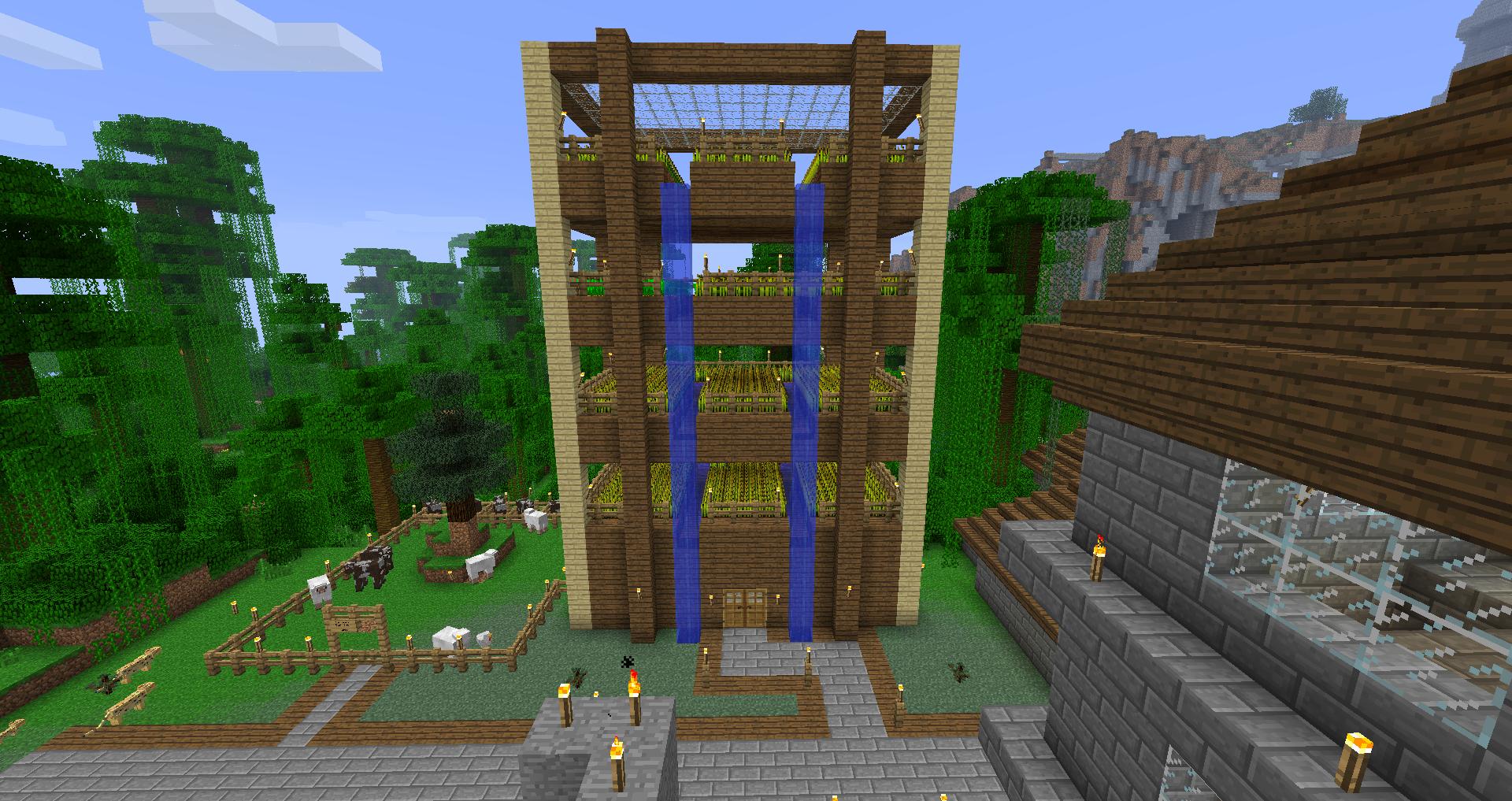 minecraft farm idea google search - Minecraft Pe Garden Ideas