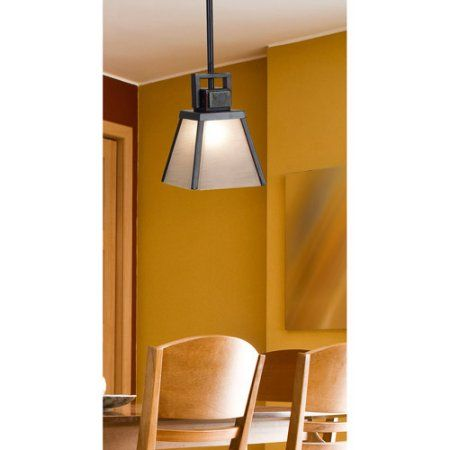 Kenroy Home Clean Slate 1-Light Mini Pendant, Oil Rubbed Bronze with Natural Slate, Gold