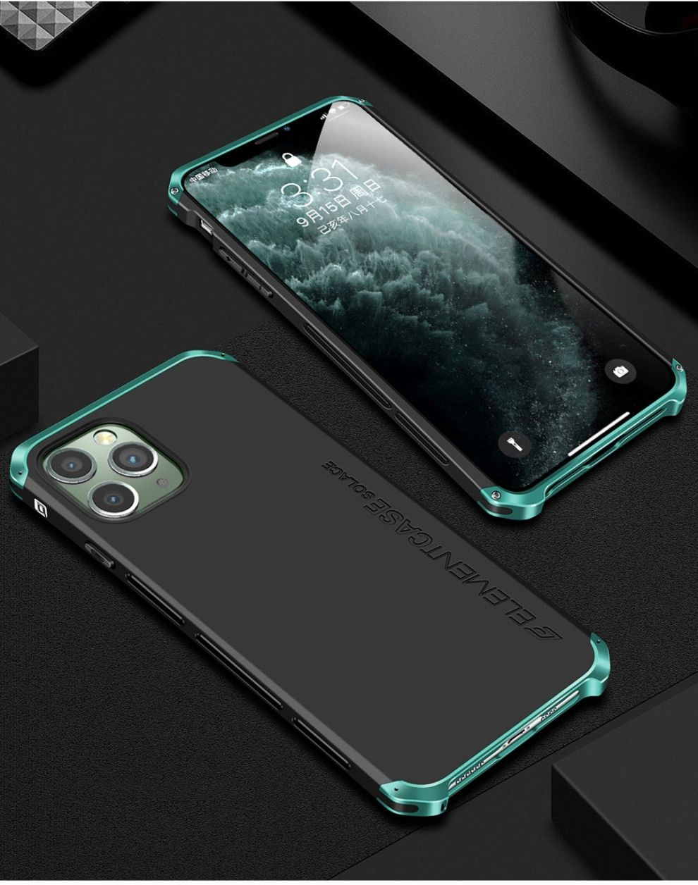 Luxury Shockproof Armor Element Metal Case For Iphone 11 Pro Max Cases Hard Aluminium Plastic Case For Iphone 11/ Pro/ Max Cover-In Fitted Cases