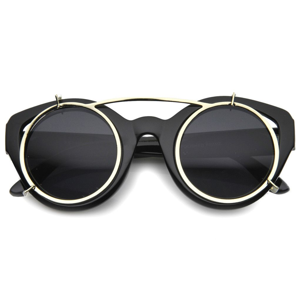 f5dfd65c3f255 STENOS Retro Steampunk Sunglasses in Black at FLYJANE