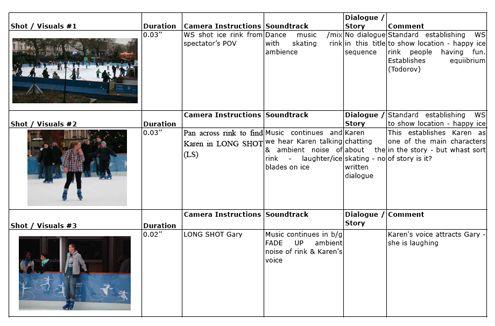 Edusites Media Studies Teaching  Learning Resources  Storyboard