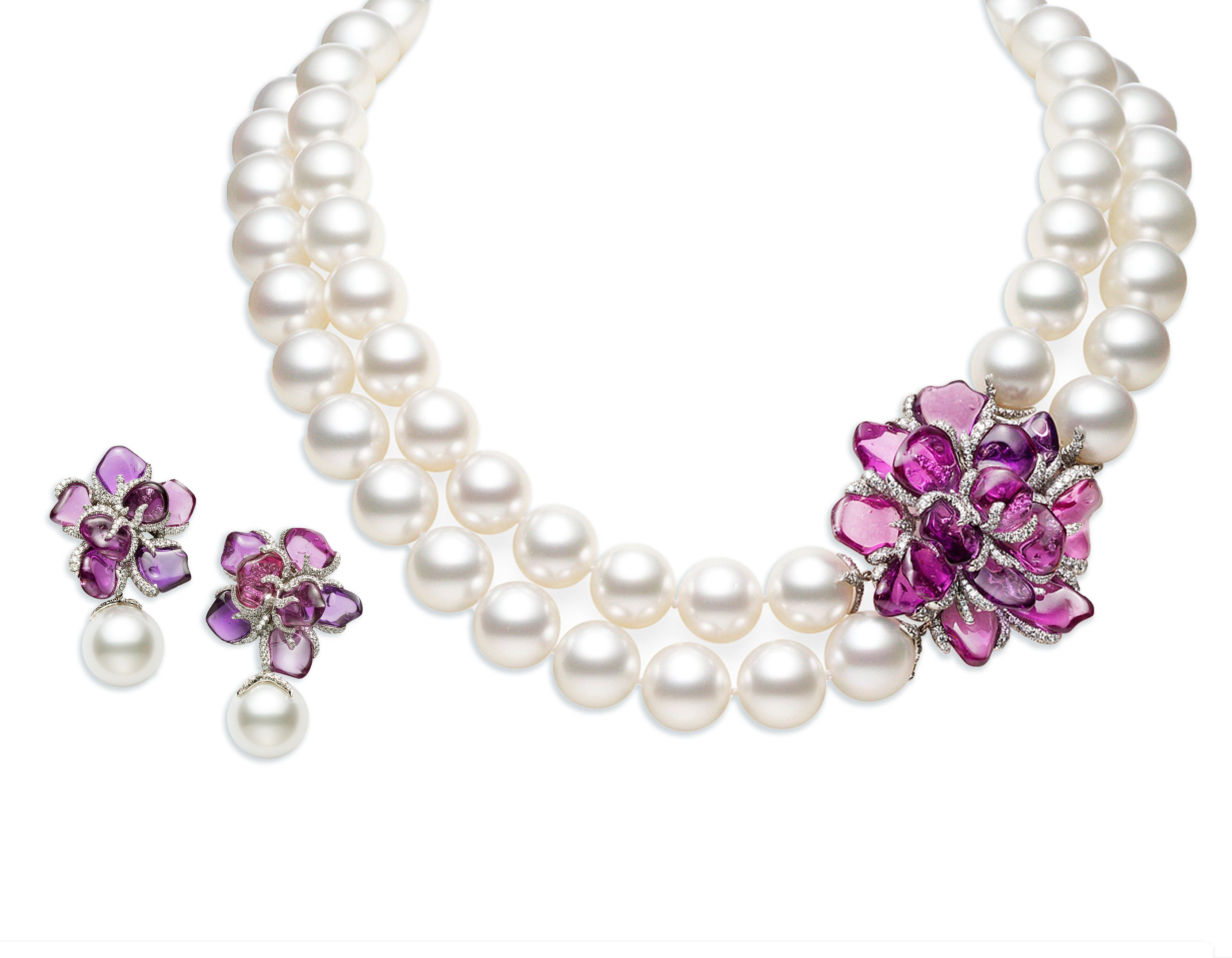 Mikimoto Pearl Set; Radiant Orchid