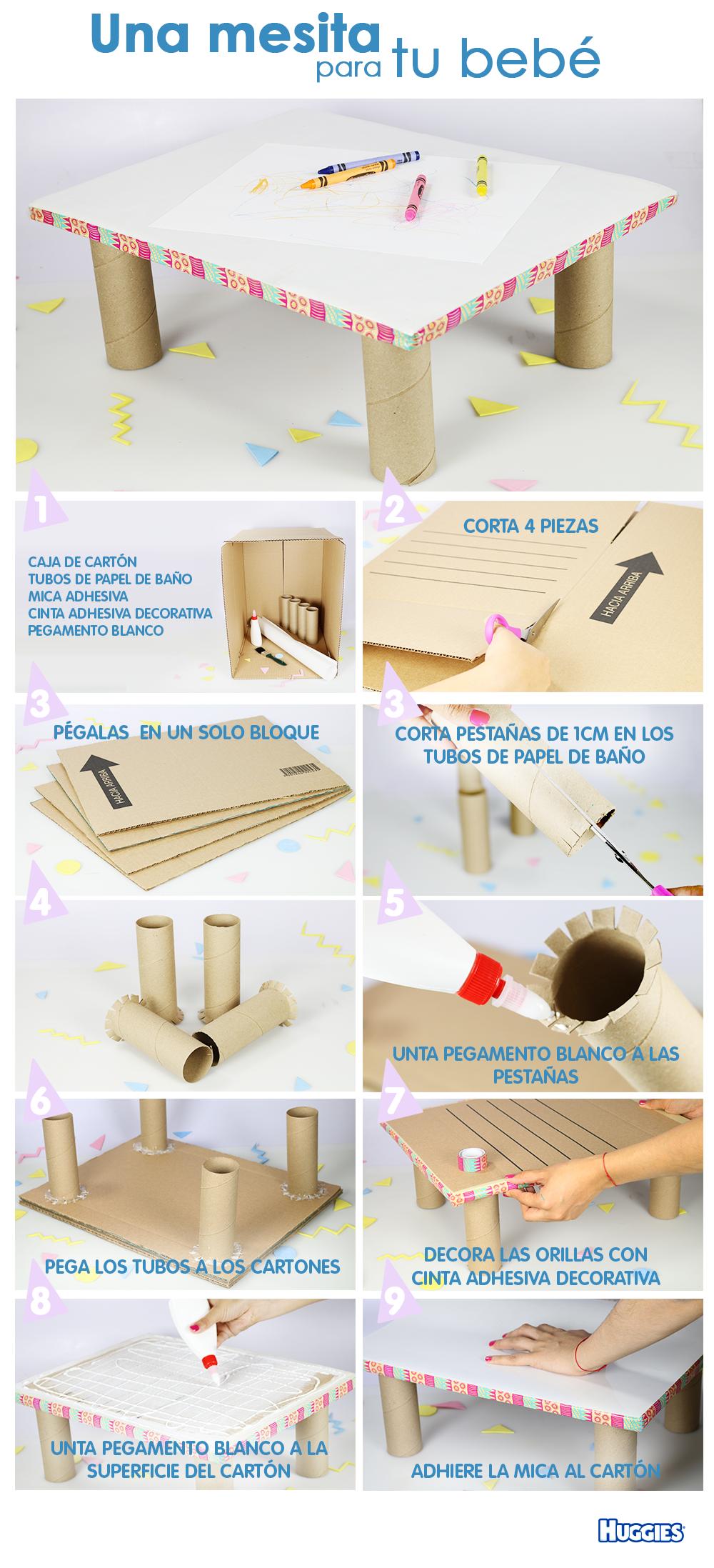 Tener un espacio y las herramientas necesarias es esencial para que tu bebé desarrolle su creatividad e impulse su motricidad fina. Comienza con esta mesa, unas hojas y crayolas, ¡te sorprenderá lo que es capaz de hacer!