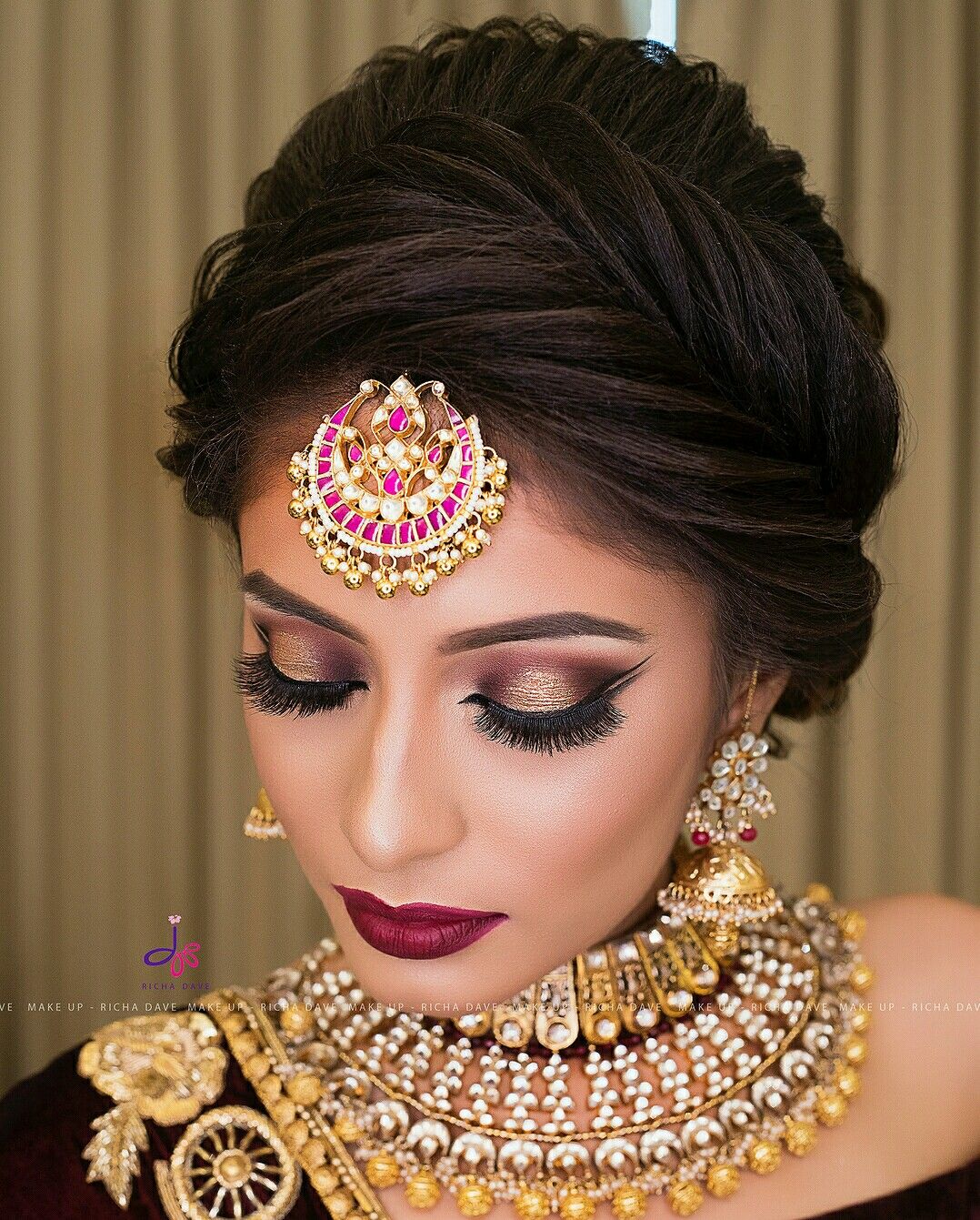 pinterest:@aditimaharaj   hair styles in 2019   bridal hair