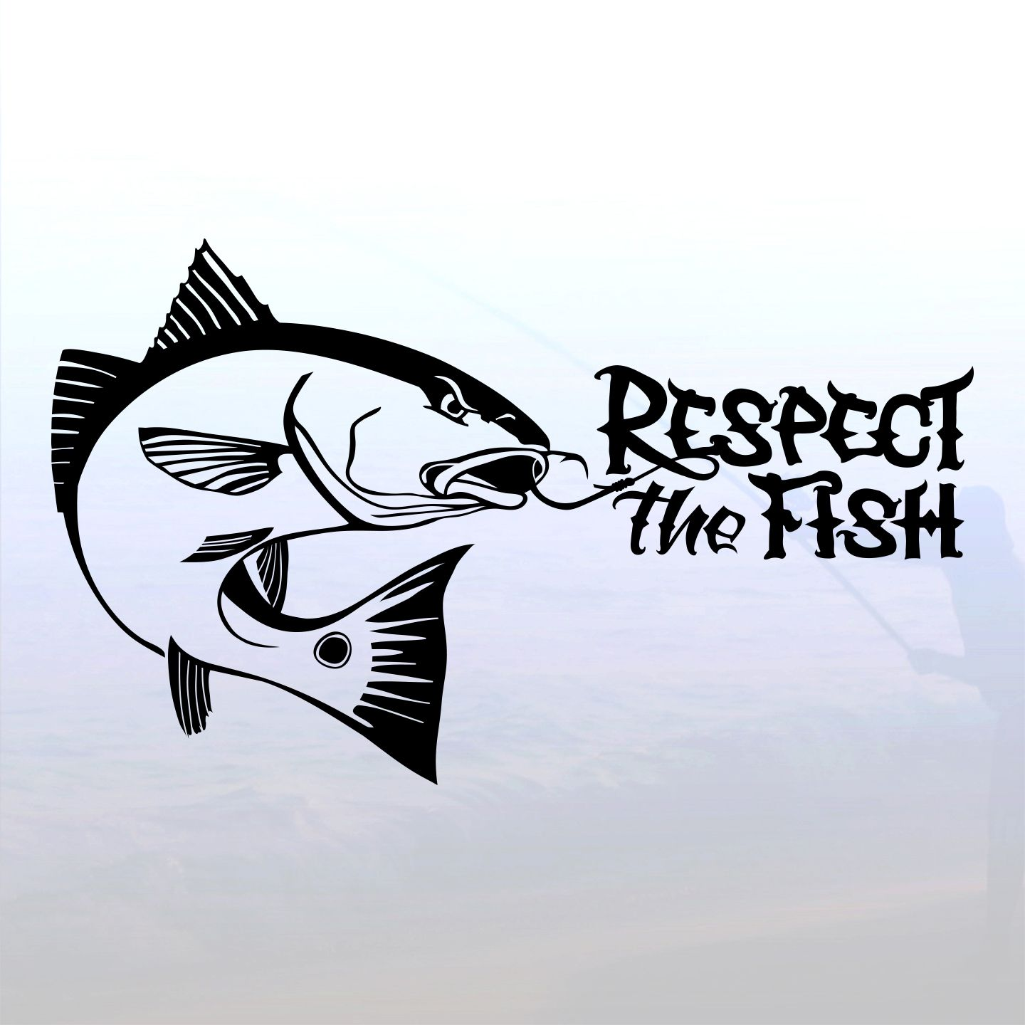 Redfish Outline Decal Respect The Redfish Decal In Cricuts