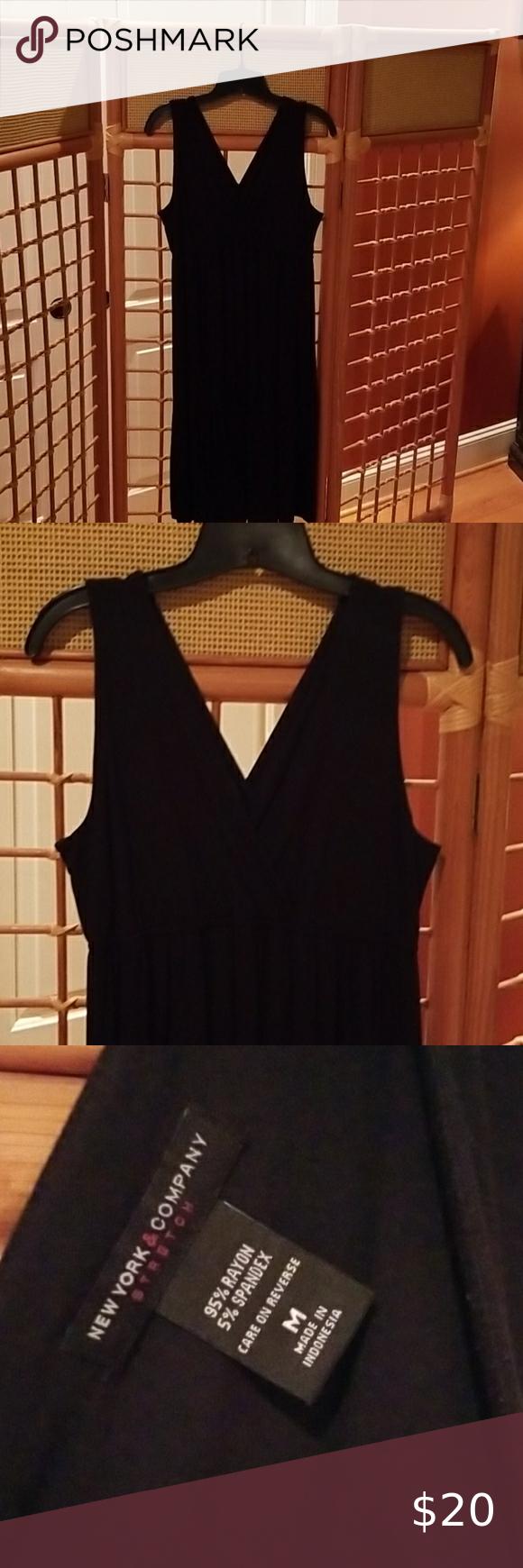 2 15 Ny C Black Summer Dress Summer Black Dress Summer Dresses Knee Length Summer Dresses [ 1740 x 580 Pixel ]