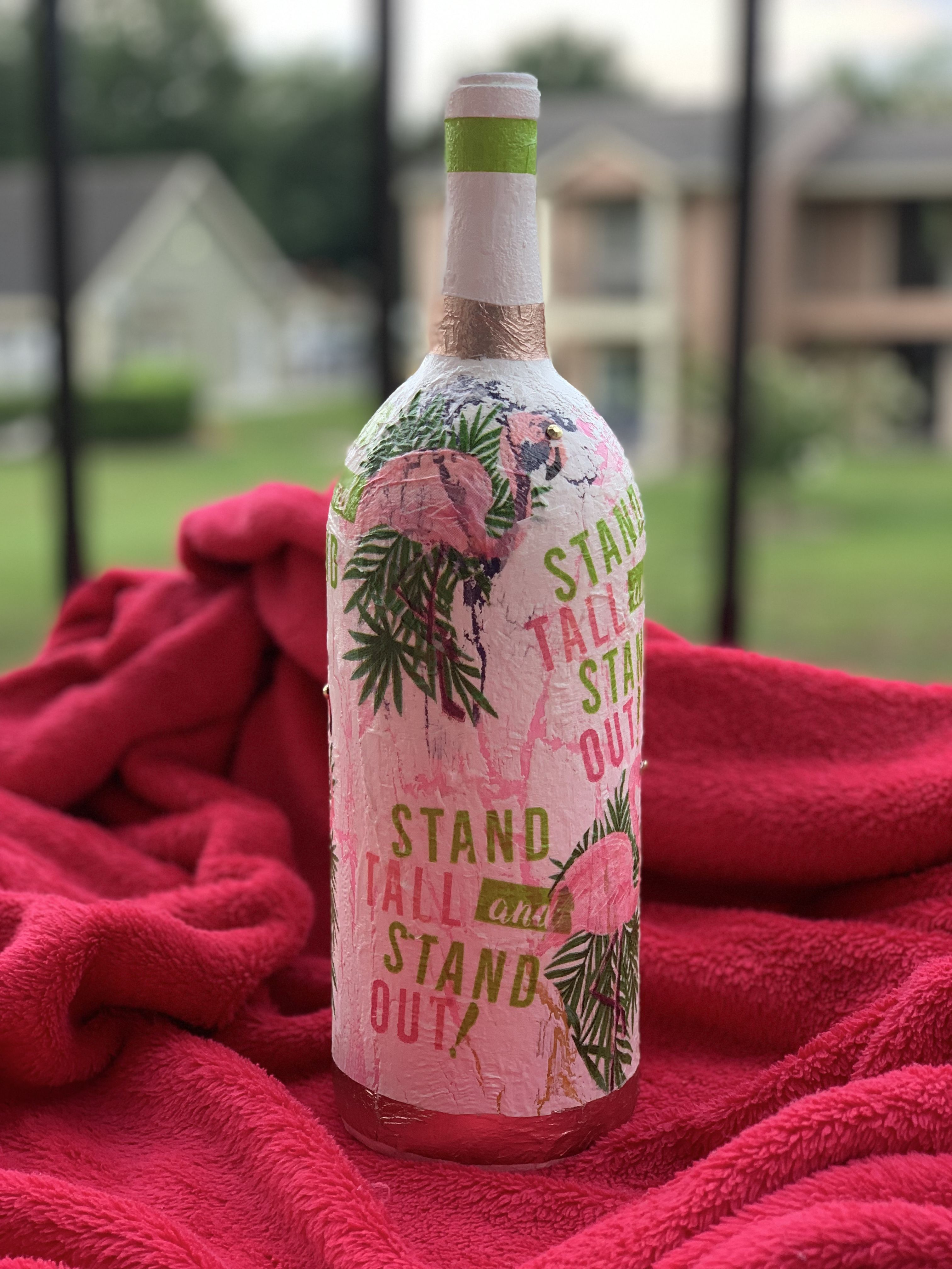 Stand Tall Stand Out Wine Bottle Crafts Made By Design Bottles Decoration