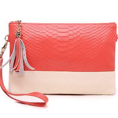 Clutches Evening Bag Tassel Crocodile Leather