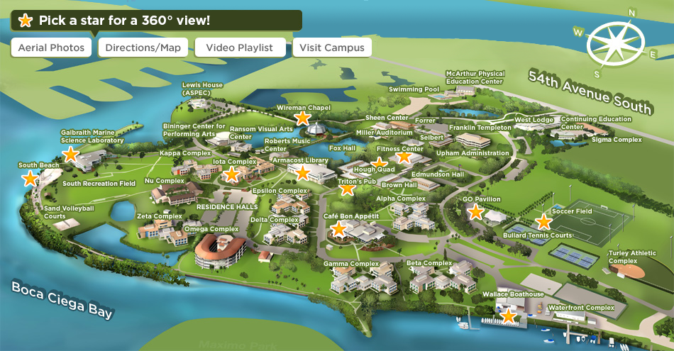 eckerd college campus map Campus Map Campus Map Eckerd College Aerial Photo eckerd college campus map