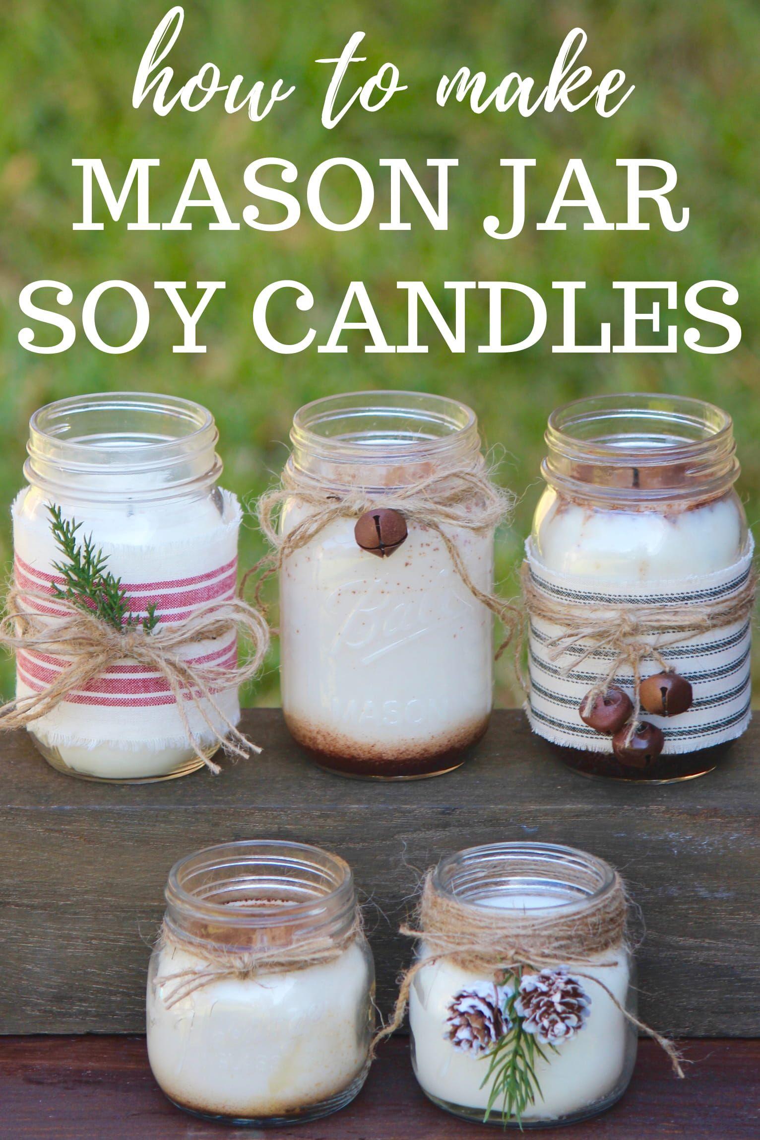 Diy Mason Jar Soy Candles Easy Mason Jar Crafts Diy Candle Diy Mason Jar Mason Jar Diy