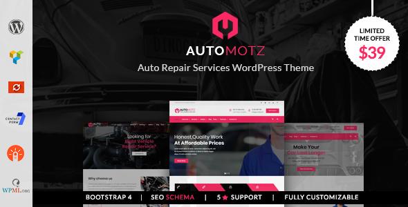 Wordpress Automotz Auto Repair Services Wordpress Theme Download Automotz Downloa Car Repair Service Auto Repair Wordpress Theme