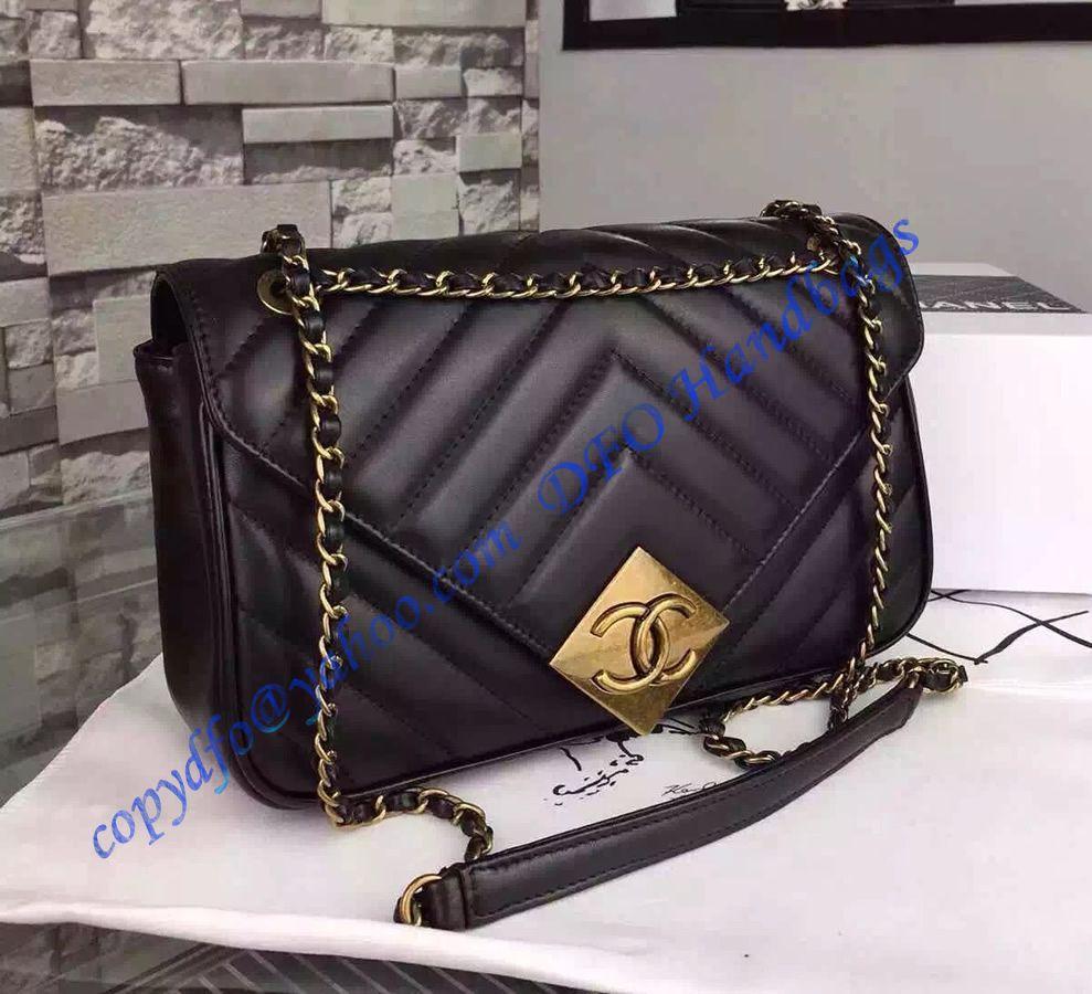 Chanel Chevron Flap Bag With Pyramid Cc Clasp In Black Lambskin Chanel Bag Chanel Chevron Chanel Handbags