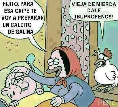 Jajajajaja.... XD pobre gallina