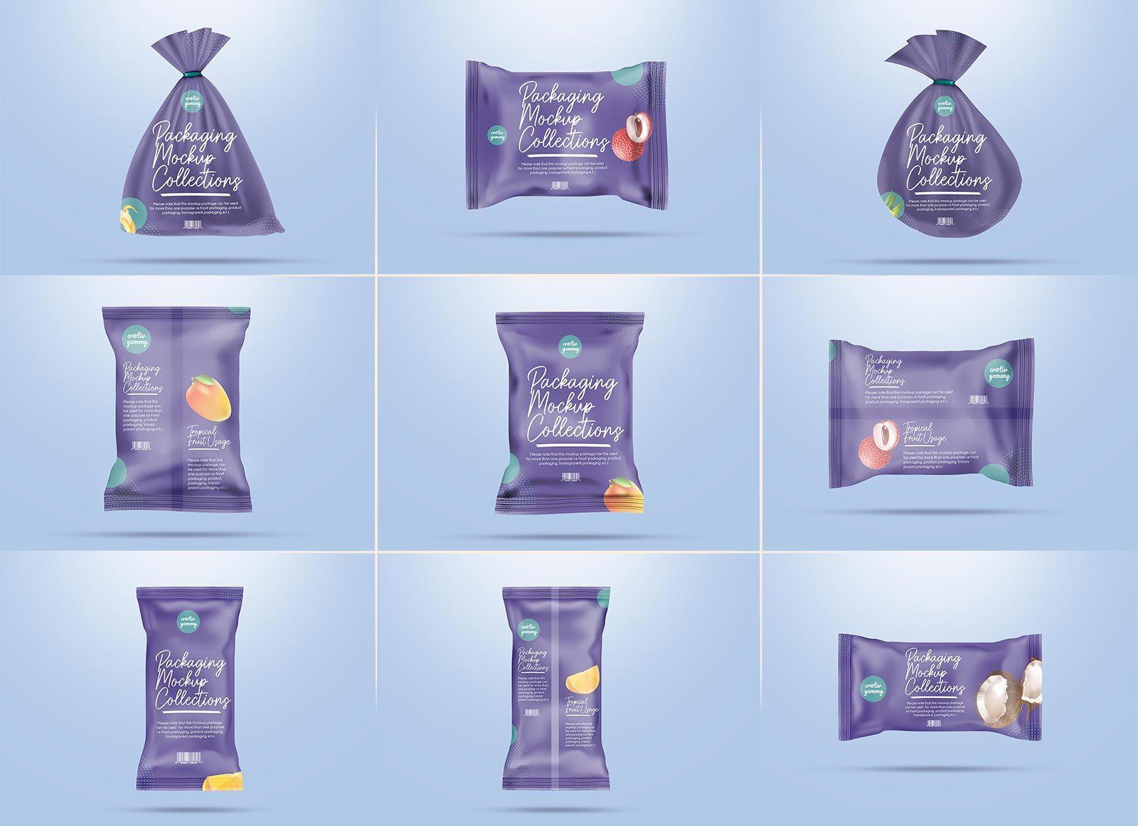 Download 10 Free Gunny Sack Bag Snack Pack Packaging Mockup Psd Set Snack Packs Packaging Mockup Snack Bags
