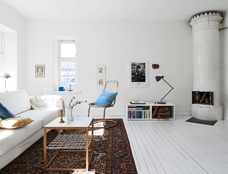 Swedish Interior my scandinavian home: a swedish apartment in pretty white, blue