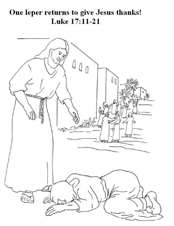Sunday School Coloring Page Jesus And The Ten Lepers With