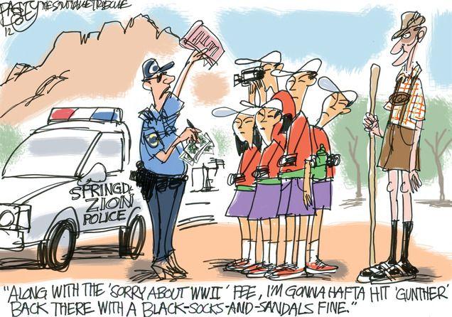 Bagley Cartoon Welcome To Utah Bagley Cartoon Editorial Cartoon