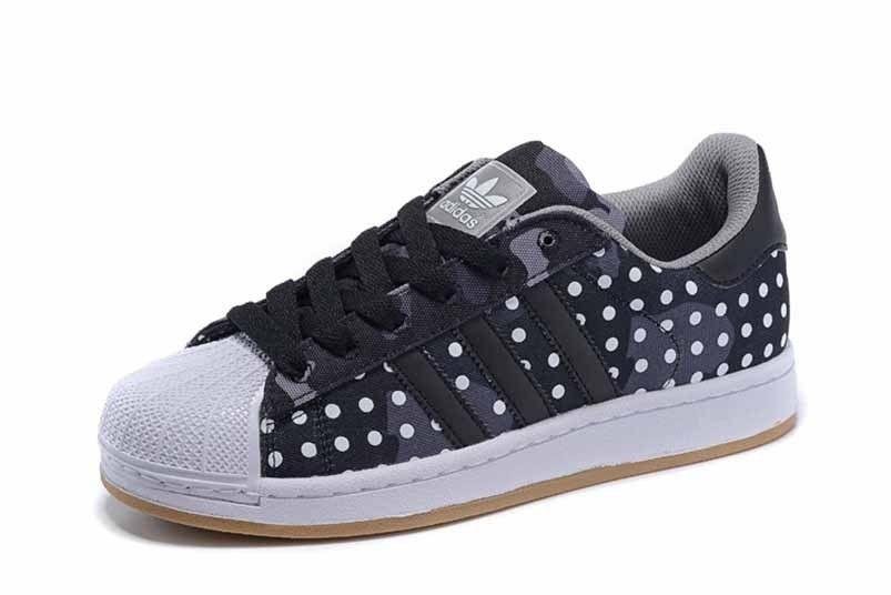 separation shoes 1f917 42885 Vente pas chère Homme Adidas chaussures M Superstar II skateboarding  sneakers CAMO DOTS Noir