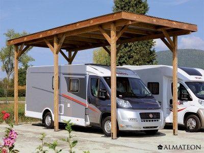carport camping car en bois d 39 pic a 340 x 760 x h 370 cm carports pinterest refuges. Black Bedroom Furniture Sets. Home Design Ideas