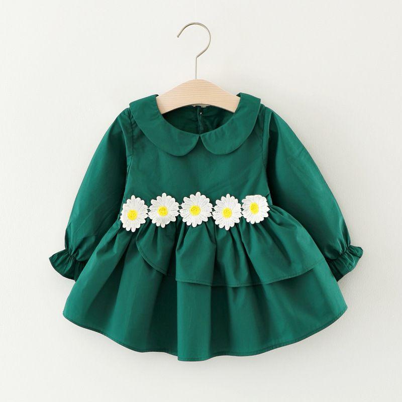 614e96fb3 WYNNE GADIS Autumn Baby Princess Party Dress Cotton Long Sleeve Doll ...