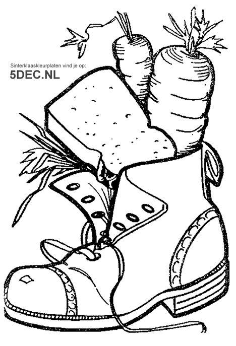Kerst Verlanglijstjes Kleurplaten Nl Schoen Zetten Sinterklaas Knutselen Sinterklaas