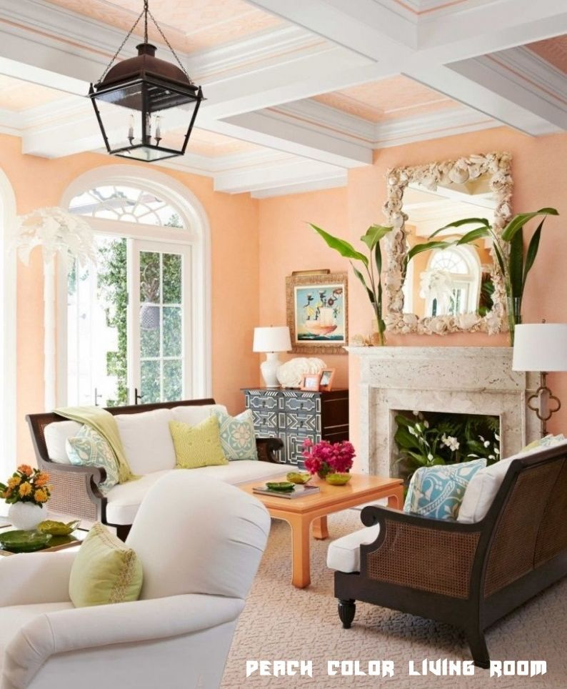 11 Peach Color Living Room in 2020   Living room colors ...