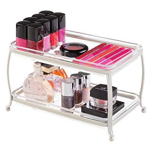 Mdesign Traditional Fashion Jewelry And Cosmetic Organize Waschtisch Ablage Badezimmer Ablage Kosmetik Aufbewahrung