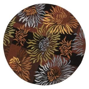 Home Decorators Collection Dazzle Black 8 Ft Round Area Rug 5248840210 At The
