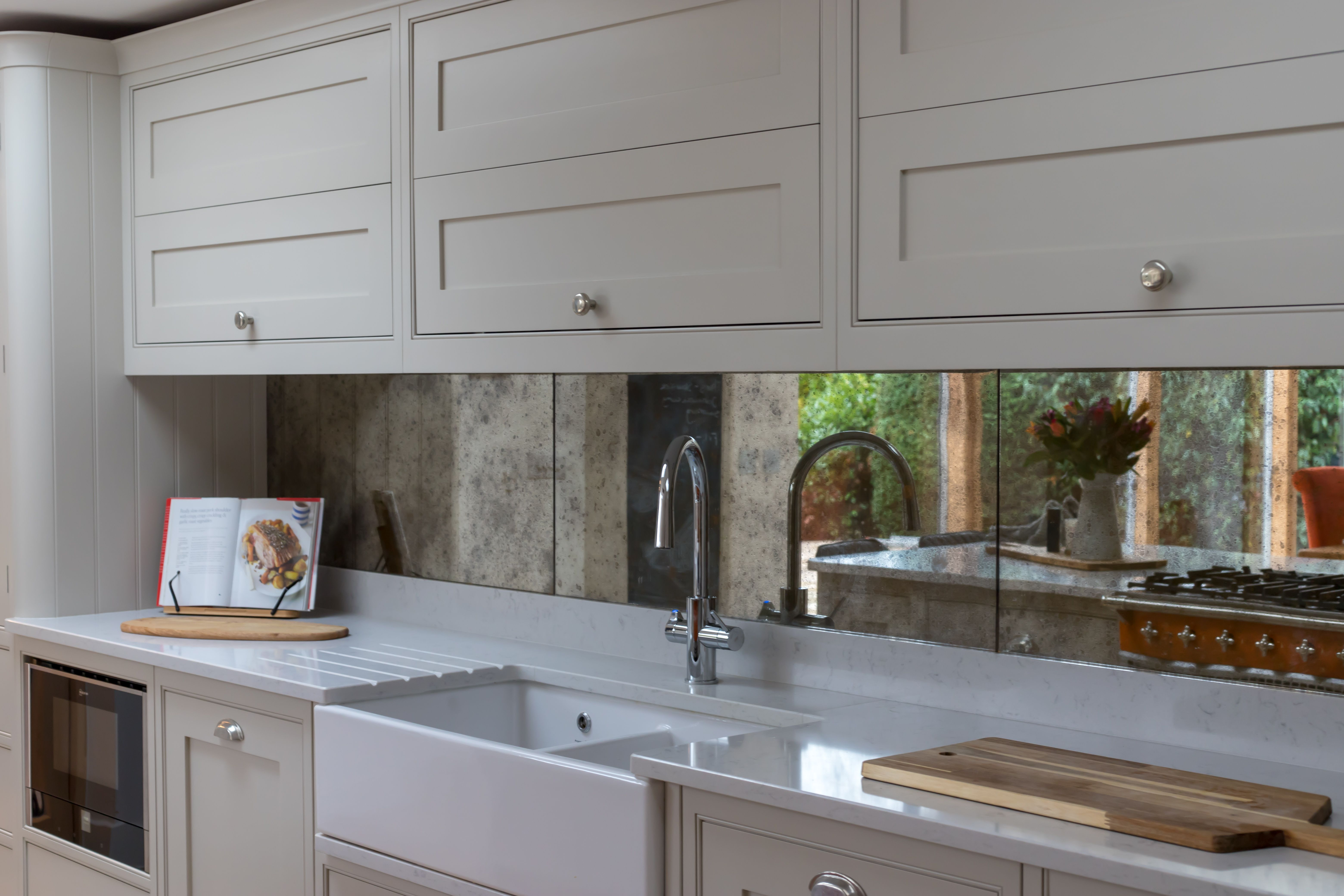 An Antiqued Mirror Distressed Splashback Like This Will Make A