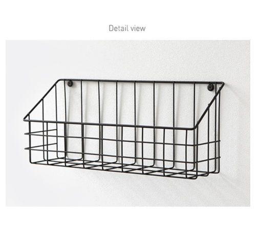 Metal Wire Basket Wall Hanging Store Display Rack Shelf Holder