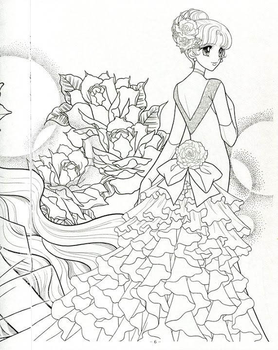 japanese princess coloring pages - photo#11