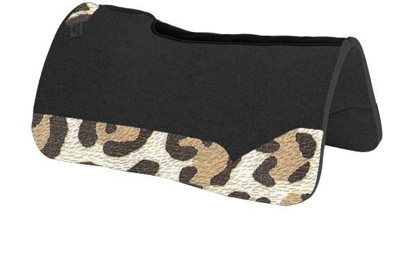 New Best Ever Pads Wear Leathers Smooth Leopard Custom Saddle Pad Horse Tack Saddle Pads