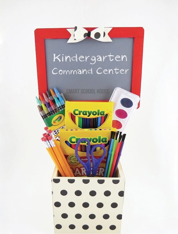 The new school year is quickly approaching and my newest DIY craft, this Kindergarten Command Center, is perfect for those of you that know a special someone starting their first year of elementary school this year!