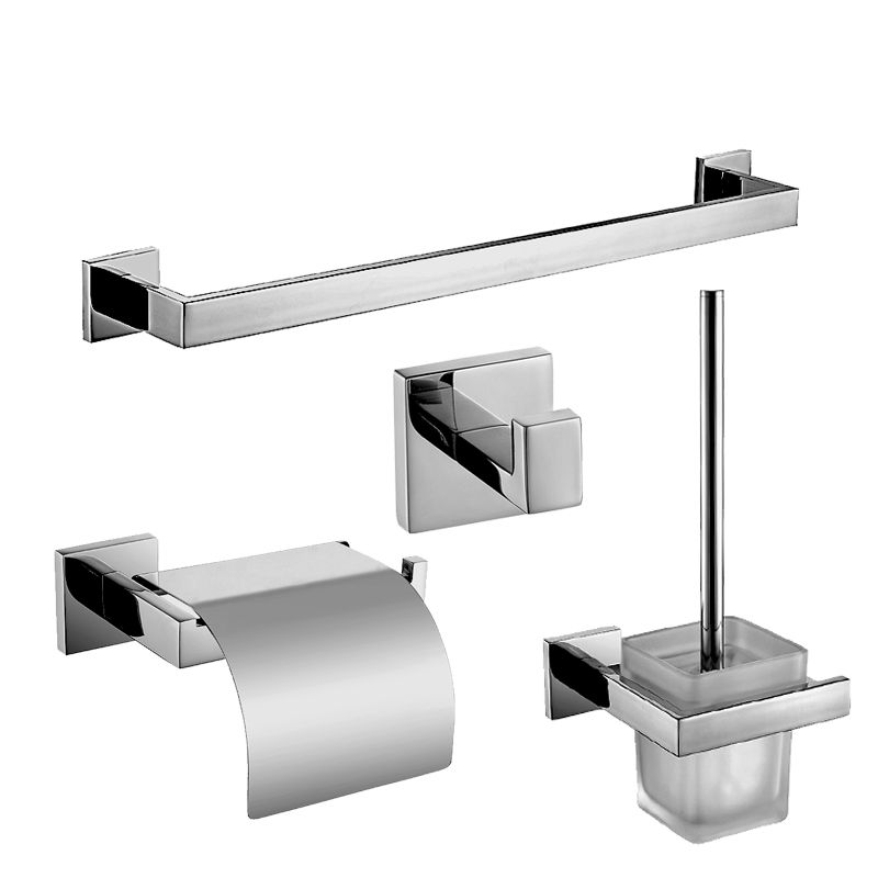 modern stainless steel polished bathroom accessories set sus304 square base chrome bathroom hardware set affiliate