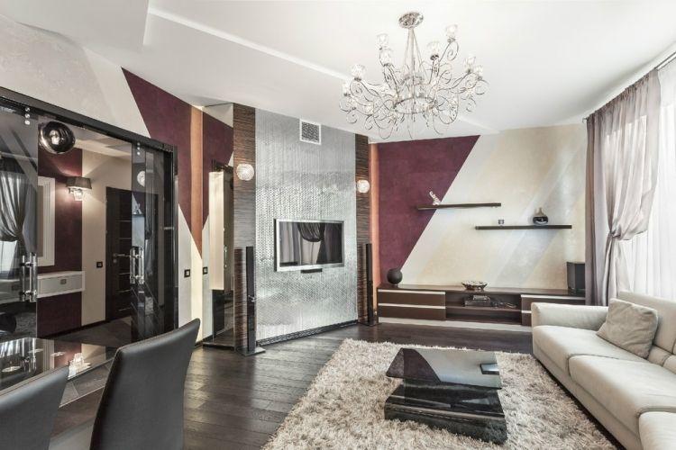 Elegant Wohnzimmer Und Kamin : Ideen Zum Streichen Wohnzimmer