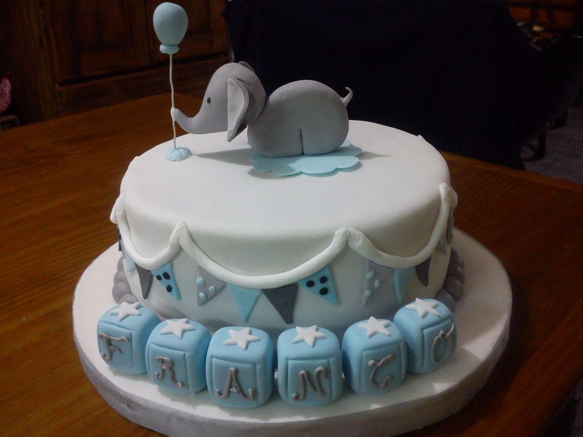 Resultado de imagen para bautismo bebe varon decoracion | Tortas ...