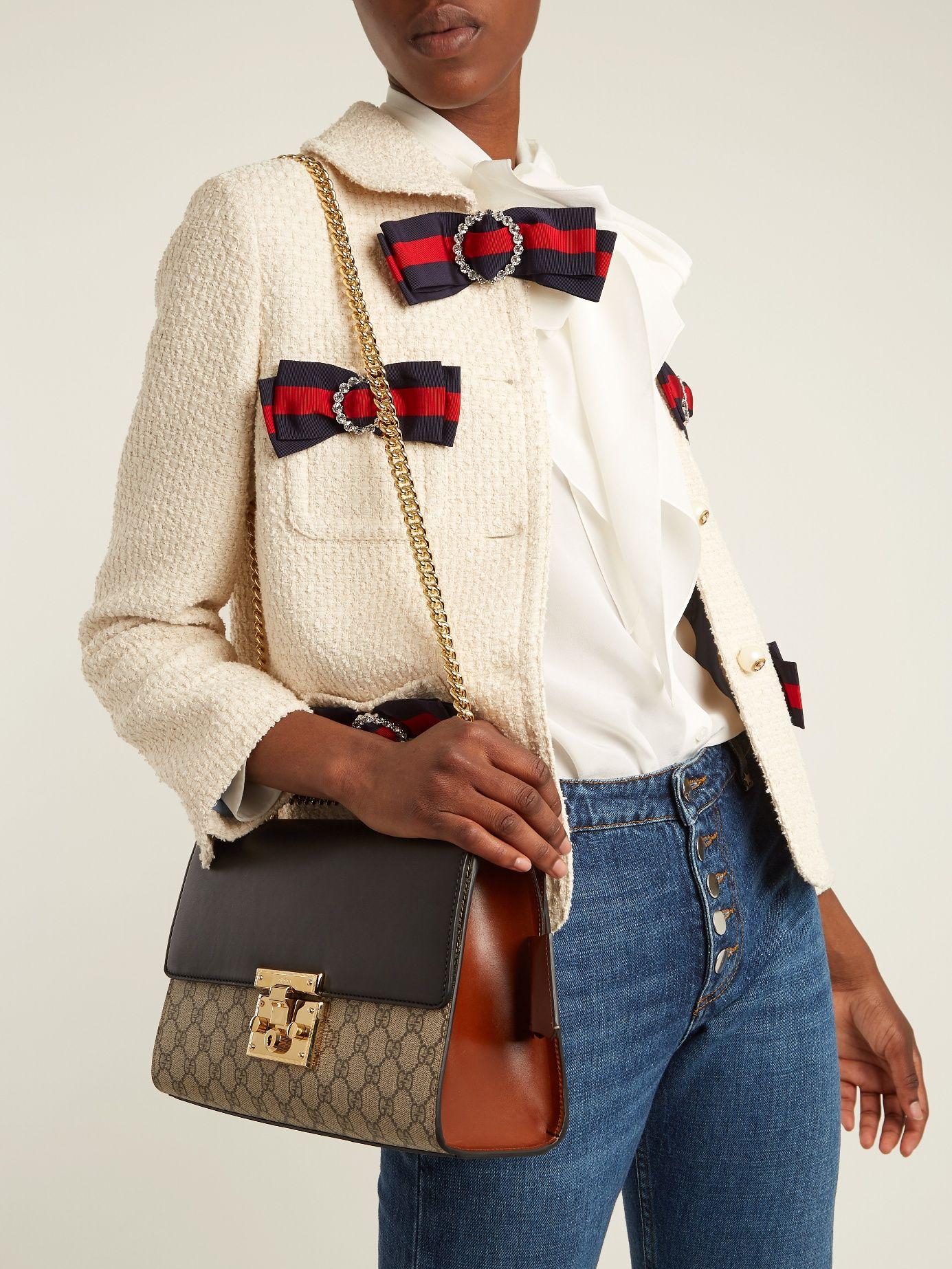 c3799e16e2d4 Padlock GG Supreme medium shoulder bag | Gucci | MATCHESFASHION.COM ...